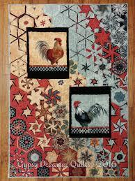 Chicken Rug Hexified Panel Quilt 2 Day Workshop