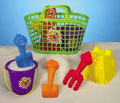 Beach Basket Processed Plastic Company 40200 Sesame Street Beach Basket Set