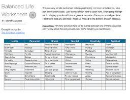 balanced life worksheet 1 the emotion machine