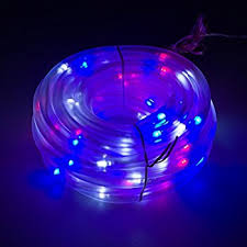 Christmas Rope Lights White by Amazon Com Flipo Solar 100 Led Rope Light Red White And Blue