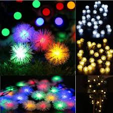 battery operated 10 20 30 cotton balls fairy led string lights