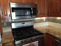 kitchen backsplash mosaic tiles l shape kitchen design using solid cherry wood kitchen cabinet