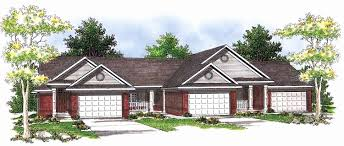 house plans with outdoor living eplans ranch house plan triplex with outdoor living areas 3433