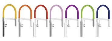 colored kitchen faucets grohe launches colorful faucet collection builder magazine