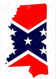Missippi State Flag State Map Outline Of Mississippi With Confederate Flag Over A