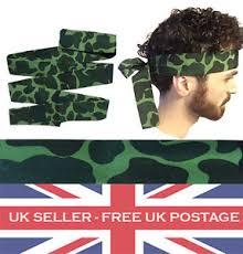 rambo headband army camo camouflage headband fancy dress rambo tie bandana
