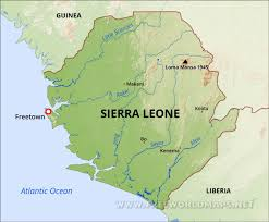 Liberia Africa Map by Sierra Leone Physical Map