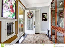 entrance hallway interior in old american house stock photo