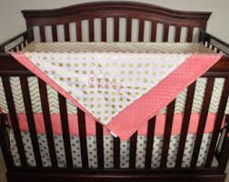 Coral And Gold Bedding Coral Bedding Etsy