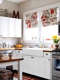 small kitchen with flowers kitchen window treatment ideas