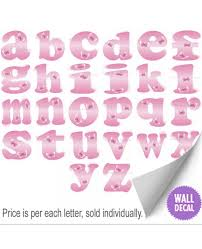 wall letters alphabet initial vinyl stickers kids decals wall lettering name stickers for nursery walls dark pink butterfly alphabet letter letter decals