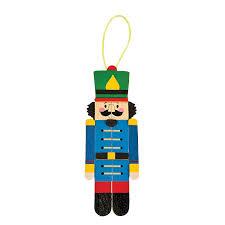 nutcracker craft stick ornament craft kit orientaltrading com