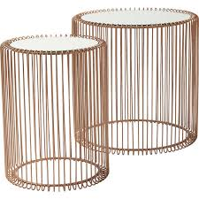 kare designs side table wire copper 2 set kare design copper kupfer wire