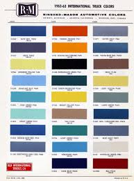 1961 1962 gmc truck color chip paint sample brochure chart r m