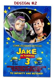toy story birthday party invitation buzz woody jessie funinvites