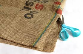 diy burlap coffee bag ottoman a piece of rainbow