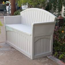 Wooden Park Bench Suncast Gallon Patio Bench Image With Wonderful White Park Bench