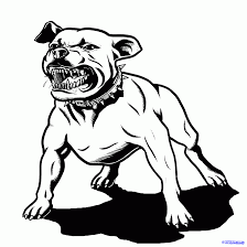 mean cartoon dogs clip art library