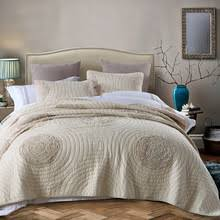 Quilted Cotton Coverlet Popular Cotton Quilted Bedspreads Buy Cheap Cotton Quilted