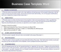 it project business case template business case project
