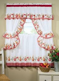 Simple Kitchen Curtains by Diy Chic Kitchen Curtain Idea In White Color And Blue Accent For