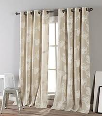 kensie home aster curtains 2 panels 54 x 84 eyelet heading tulips