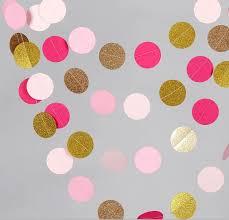 aliexpress buy 10 feets pink gold paper garland metallic