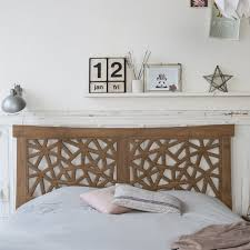bed headboard in teak gentong bed headrest sale at tikamoon