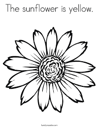 The Sunflower Is Yellow Coloring Page Twisty Noodle Sunflower Coloring Page