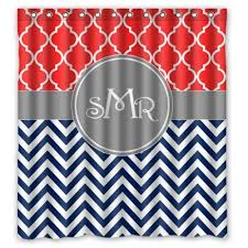 Orange And Blue Shower Curtain Chevron Shower Curtain Archives