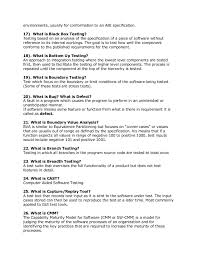 Testing Tools Resume Manual Software Testing Interview Questions With Answers
