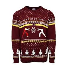 christmas jumper fighter official ken vs ryu christmas jumper sweater