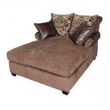 Armless Chaise Lounge Large Brown Leather Armless Oversized Chaise Lounge Sofa With