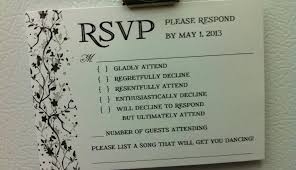 Sample Rsvp Cards How To Let Your Wedding Guests Know They Don U0027t Get A Plus One