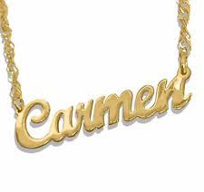 Custom Name Necklace Gold Gold Name Necklace Ebay