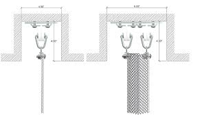 Suspended Curtain Rail Mesh Safety Screens Track U0026 Hardware Cascade Coil