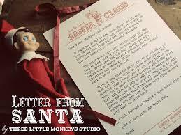 free santa letterhead three little monkeys studio