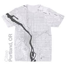 Map Portland Or by Citee Fashion Portland Or Map T Shirt
