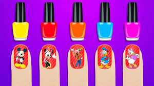 mickey mouse clubhouse surprise nails polish learn colors for