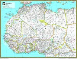 africa map atlas northwestern africa atlas wall map maps