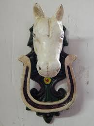 Great Knockers by Door Knocker Horse Head With Lucky Horse Shoe Cast Iron Horse