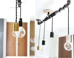 Multi Pendant Light Diy Pendant Lighting Pendant Hanging From Pipe So There You Have