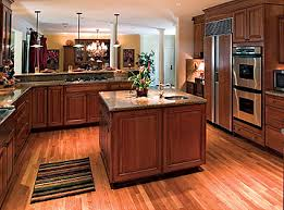 Hardwood Floors In Kitchen Kitchen Magnificent Wood Kitchen Cabinets With Floors Flooring
