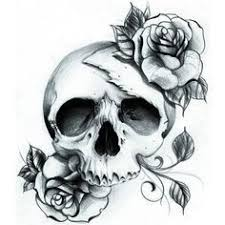 feminine skull with roses search tattoos
