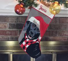 black lab dog stocking personalized needlepoint christmas