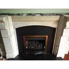 marble fireplace unrestored and restored original victorian