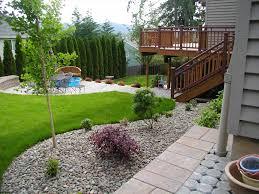 backyard with pergola pool landscaping ideas designs pool garden
