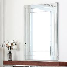 abbyson living fairmont rectangle wall mirror overstock shopping