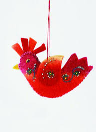 felt rooster ornament shop nectar