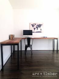 industrial desk l the sawyer l shaped desk reclaimed wood steel